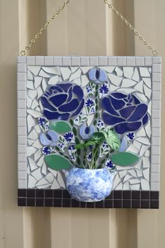 teacup roses mosaic garden courtyard art