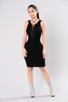 Waiting For You Dress - Black