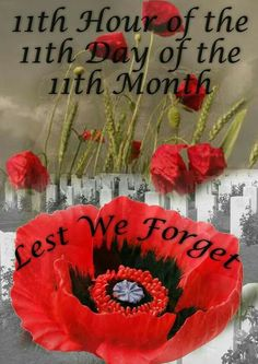 Hour Day of the Month. Lest We Forget