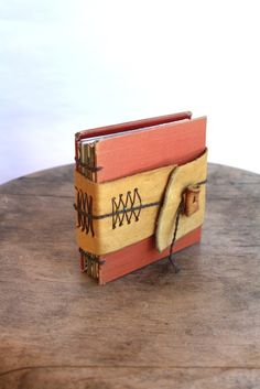 like the wrap around cover on this handmade book
