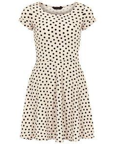 Nude spot twist sleeve dress, Dorothy Perkins