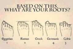 Well on foot I'm Egyptian and on the other I'm Roman. My roots are German so does this make me an Egyptian Roman German? Weird Facts, Fun Facts, That's Weird, Random Facts, Random Stuff, Cool Stuff, Funny Stuff, Shape Of You, Things To Know