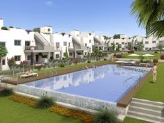 """Property Ref: W3898 Beautiful new built apartments, model """"Sol Park"""", with communal swimming pool for sale in Torrevieja. This furnished apartments offers terrace, 3 bedrooms, 2 bathrooms, living room/ kitchen, pre-installation of air conditioning, structure in reinforced concrete, reinforced security door, double glazing, water proof terraces, fitted wardrobes, grey & white monocapa exterior finish, private garden with irrigation system for ground floor properties. Price:139.000 €"""