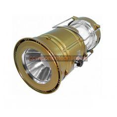 Lampa cu LED-uri, cu acumulator si panou solar - 109042