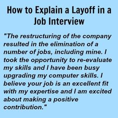 How to explain a layoff in a job interview Job Interview Answers, Job Interview Preparation, Job Interview Tips, Job Interviews, Interview Quotes, Job Resume, Resume Tips, Resume Form, 6 Sigma