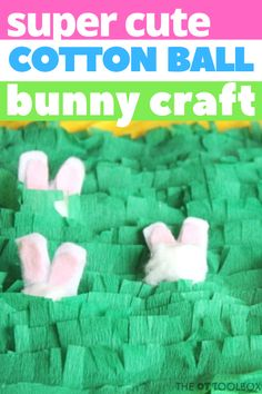 This cotton ball bunny craft is so much fun for fine motor skill activities and oral motor skills work. Oral Motor Activities, Easter Activities, Therapy Activities, Activities For Kids, Forest Animal Crafts, Ocean Animal Crafts, Animal Crafts For Kids, Fish Crafts, Bunny Crafts