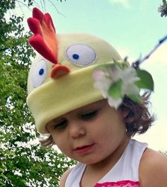 Fleece Chicken Hat, lol!