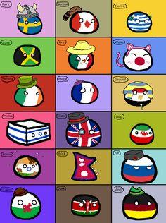 Countries if they were Pokemon Types   Polandballs Countryballs