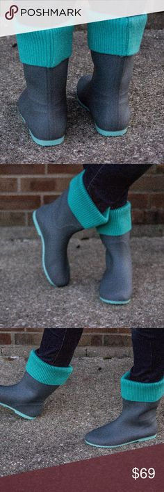 Rain Boots - Mint Ahh these are sooo beautiful! These can double as rain and snow boots! They are waterproof. The top part does come off, so you can monogram the collar or you can just wear without it. They're so perfect for fall and winter! These run about a half size small and only come in full sizes. No trades. Kyoot Klothing Shoes Winter & Rain Boots