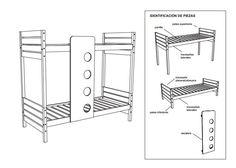 cama cucheta - esquema- construir- planos
