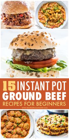 This collection of easy Instant Pot Ground Beef Recipes includes everything from comfort food classics to healthy fare, and everything in between. Plus each and everyone is affordable, simple to make, and super flavorful! Includes dinner, froze ground beef, pasta, mexican, meatloaf and more. Click through to get these awesome pressure cooker ground beef recipes!! #instantpot #instantpotrecipes #instantpotgroundbeefrecipes #pressurecooker #pressurecookerrecipes  #groundbeef #beef Supper Recipes, Lunch Recipes, Soup Recipes, Chicken Recipes, Mexican Meatloaf, Ground Beef Pasta, Potted Beef Recipe, Best Instant Pot Recipe, Lunch Meal Prep