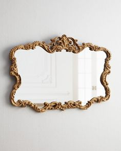 Shop Tatiana Horizontal Mirror at Horchow, where you'll find new lower shipping on hundreds of home furnishings and gifts. Vintage Gold Mirror, Gold Framed Mirror, Diy Mirror, Antique Mirrors, Gold Mirrors, Baroque Mirror, Mirror Box, Mirror House, Gold Frames