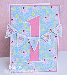 Girls 1st Birthday banner card                                                                                                                                                                                 More