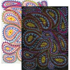 United Art and Education Art Project:  Draw a fun paisley print with Prismacolor Pencils, turn it over and apply an ink was—the pencil resists the ink for a stunning image!