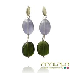 #pendientes #amatista lavanda y #turmalina verde  #earings #aretes #accesories #diseñoExclusivo #elegancia #fashion #femenino #fino #gift #guapa #handmade #hautecouturejewelry #instafashion #jewel #joya #joyeria #joyeriadediseño #ladies #MadeinSpain #madrid #magia #MalalaDePerlas
