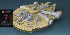 3D Designers Behind the 380-Piece 3D Printable Millennium Falcon #starwars #3dprinting #awesome