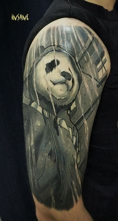 grey panda tattoo