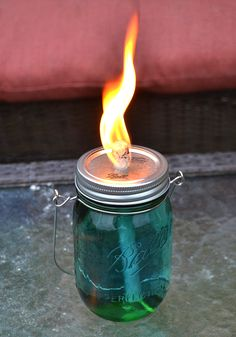I Am In Love With These Mason Jar Citronella Torches So Easy And Inexpensive