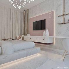 Girls Bedroom Colors, Room Ideas Bedroom, Home Bedroom, Room Decor, Home Room Design, House Design, Cozy Home Office, Room Goals, Luxurious Bedrooms