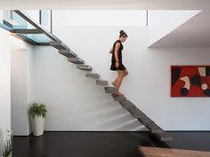 #Scari suspendate | #Pardoseala #Microtopping intr-un #apartament modern www.concreteart.ro Minimal Apartment, Concrete Art, Wall And Floor Tiles, New Builds, Interior Inspiration, Minimalism, Stairs, Flooring, Modern