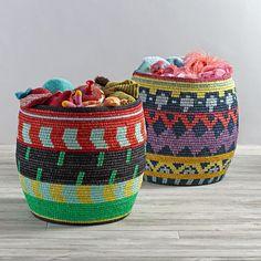 Nile Floor Basket (Purple/Blue)
