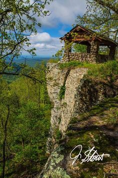 Jay Stout shares this image of the old pavilion by the cliff atop White Rock Mountain in western Arkansas.