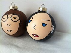 Daria and Jane Handpainted Christmas Ornaments, $26 / 35 Slammin' Holiday Gifts For '90s Girls (via BuzzFeed)