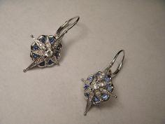 Magnificent Estate 14K White Gold Sapphire Diamond by ggemsonline, $950.00