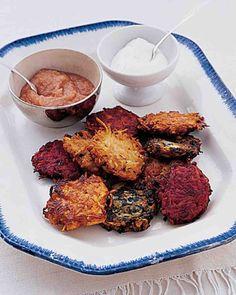 Carrot-and-Beet Latkes. I added Gruyere. ***** Chelsi loves veggie latkes