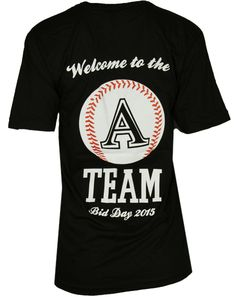 Alpha Sigma Alpha Baseball A Team T-shirt by Adam Block Design | Custom Greek Apparel & Sorority Clothes | www.adamblockdesign.com