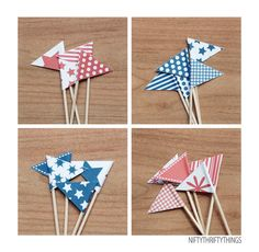 Printable 4th of July Bunting & Flags