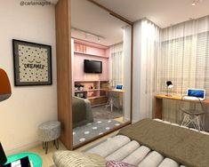 Dormitório de menina - designer de Interiores Carla Magrini #interiores #quartodemenina #quartodeadolescentemente  #dormitório #rosamilkshake #decor #decoração #designdeinteriores #interiordesign #carlamagriniinteriores