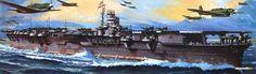"IJN aircraft carrier ""Shōkaku"" box art work from Tamiya model kit."