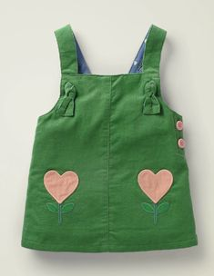 Use E Abuse, Boden Uk, Pinafore Dress, Kids Prints, Baby & Toddler Clothing, Baby Grows, Baby Sewing, Green Dress, Soft Fabrics