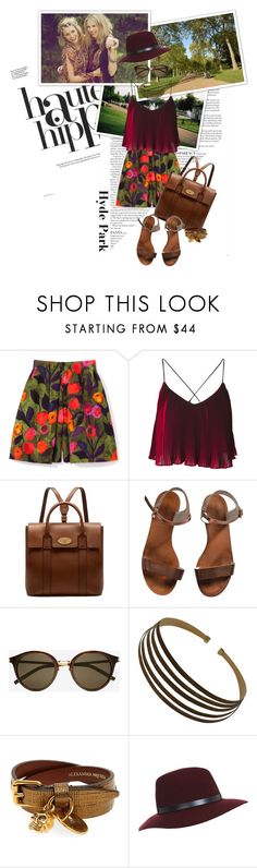 """""""Hyde Park"""" by lifestyle-ala-grace ❤ liked on Polyvore featuring Haute Hippie, Mulberry, Emporio Armani, Yves Saint Laurent, Roberto Coin, Alexander McQueen and Miss Selfridge"""