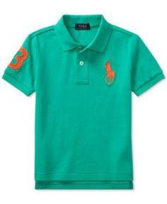 Ralph Lauren Ribbed-Collar Cotton Polo, Toddler & Little Boys (2T-7) - Persian Green 4/4T