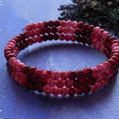 Bracelet à mémoire de forme en perles rouges
