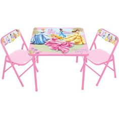 Disney Princess Activity Table and 2 Chairs Set