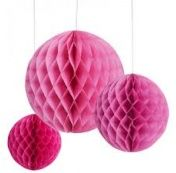 Honeycomb - Rosa Mix - Red Elephant - Party Shop