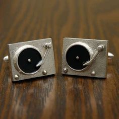 The Vinyl Turntable Cufflinks Are For the Sophisticated Music Lover trendhunter.com