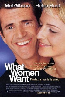 What Women Want (2000) Poster.After an accident, a chauvenistic executive gains the ability to hear what women are really thinking. Director: Nancy Meyers Writers: Josh Goldsmith (story), Cathy Yuspa (story), 3 more credits » Stars: Mel Gibson, Helen Hunt, Marisa Tomei | See full cast and crew »