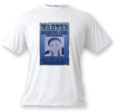 Wanted - Cure Diabetes Awareness Photo T Shirt