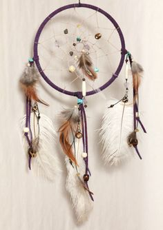 Lavender Luck Dreamcatcher Fur Free Native American by Dreamforum