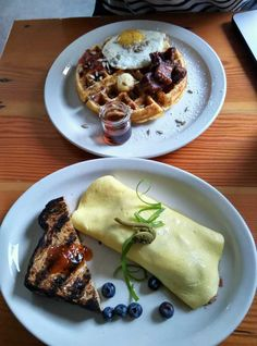 Omelet And Waffles