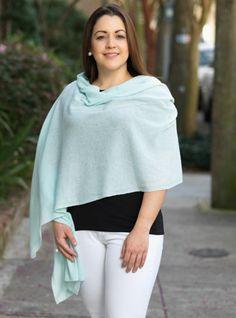 Ladies Cashmere Wrap in Soft Mint
