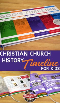 Christian Church History Timeline for Kids Need a Christian Church history timeline? Check out a visually stunning history timeline chart and book for kids! Christian Parenting, Christian Homeschool, Church History, Family History, Homeschool Curriculum, Homeschool Kindergarten, Preschool, Parenting Books, Parenting 101