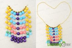 Fringe Statement Necklace with Colorful Beads