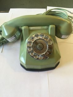 Automatic Electric Telephone Nile Green Monophone with chrome trim