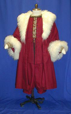 Victorian Saint Nick Santa Claus Hat Coat Vest by magicwardrobe