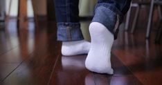 Floor's definitive guide to deep cleaning your hardwood floor. Four steps to a dirt-free floor that will pass the white socks test. The truth about vinegar, oil soap and mops. Wood Floor Cleaner, Cleaning Wood Floors, Ballet Shoes, Dance Shoes, Mop Pads, Athletic Socks, Cotton Towels, Deep Cleaning, Slippers